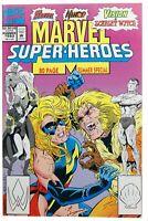Marvel Super Heroes 10 Summer 1992 Marvel 8.5/9.0 Ms Marvel Sabretooth Fight