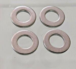 M6 Pack of 4 x Titanium Flat Washers Ti GR2 Quality Light Precision - UK Stock