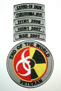 "Survivor Patch Pandemic "" End Of The World Veteran "" Quarantine Corona Lockdown"