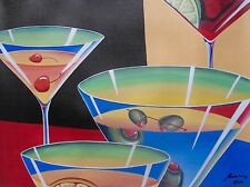 """JAMES WING """"MULTI MARTINI"""" Hand Signed Limited Edition Giclee on Canvas"""
