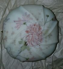 VERY LARGE VICTORIAN WAVECREST HAND PAINTED DRESSER BOX GORGEOUS W/PINK MUMS