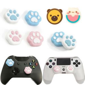 2Pairs Kawaii Cat Paw Joystick Thumb Grip Rocker Cap For Switch Pro PS4 Xbox One