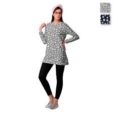 Pigiama donna Bolle di Kissimo c/maxi maglia in Felpa D2027 T733