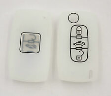 COQUE SILICONE BLANC CLE PILP PEUGEOT 406, 407, 408, 307, 107,