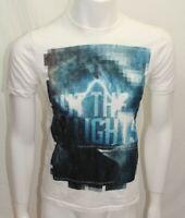 DKNY Jeans Men Tshirt  Crew  White Sz Medium  NWOT Short Sleeve