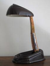 LAMPE DE BUREAU JUMO LUCIDUS BLOC STREAMLINE EN BAKELITE GRENAT MIKLOS 1945