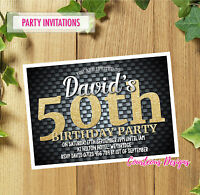 40th 50th 60th 30th 21st Personalised Birthday Party Invitations Invites