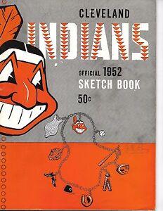 1952 Cleveland Indians Yearbook Sketch Book GEM!!