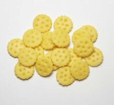 20 Dollhouse Miniature Crackers / Cookies *Doll Mini Food Bakery Cookie Biscuit