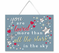 You Are Loved Hanging Plaque With Ribbon More Than Words Gift