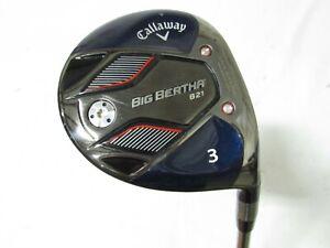 Used RH Callaway Big Bertha B21 3 Fwy Wood RCH 45 Graphite Regular R flex +HC