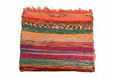 Hand Loomed Rag Rug Oriental Area Throw Runner Carpet 4x6 Reversible Chindi Rug