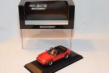 . MINICHAMPS PORSCHE 911 CARRERA CABRIOLET 1983 RED MINT BOXED