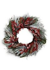 Martha Stewart Winterberry Wreath 24IN