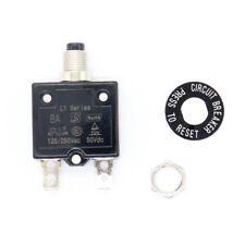 Car Motor 8A Circuit Breaker 12/24V Push Button Overload Protector Manual Reset
