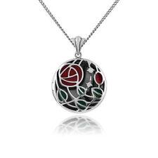 "Sterling Silver 18 19.99"" Fine Diamond Necklaces & Pendants"