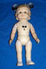 """Old Micky Mouse Club Doll Mickey Walt Disney Prod Kids Girls Rubber 12"""" Vintage"""