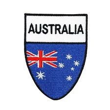Australia National Flag Shield Patch Country Badge Embroidered Iron On Applique