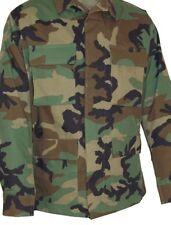 Military BDU Woodland Medium Long Uniform Shirt Coat Camo Lot 5 Rip-stop NEW