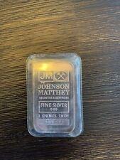 1 oz .999 Johnson Matthey Fine Silver Bar- Sealed