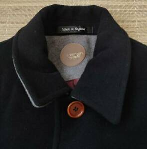 Common People men's overcoat size L(42 chest) - Made in England, Wool Mix