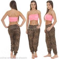 Pantaloni da donna harem neri medi