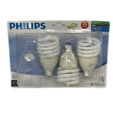 Pack Of Three Philips Daylight Deluxe E Base T2 Spiral 100W Equivalent Light