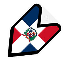 ## JDM DRIVER BADGE DOMINICAN REPUBLIC Car Decal Flag not vinyl sticker ##