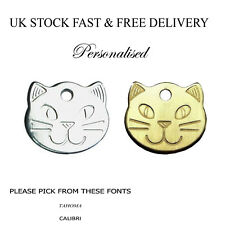 Cat Tag Personalised Engraved 22mm Pet Collar Id Tags Kitten Free Engraving