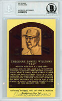 Ted Williams Autographed Signed HOF Plaque Postcard Red Sox Beckett 10983279
