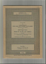 CARL FABERGE & GOLD & ENAMEL SNUFF BOXES LOUIS XV &XVI  SOTHEBYS 1966 SCHINDLER