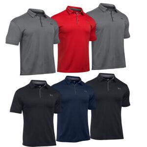 Under Armour Mens HeatGear Tech Polo Shirt UA Golf Short Sleeve Tennis Top