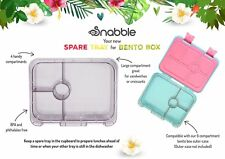 Spare tray insert for Snabble Bento lunch box, 4 compartments, tray only