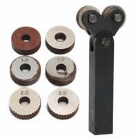 0,5 / 1 / 2mm Pitch Dual Wheel Slant Zähne Rändelwerkzeug für Metalldrehmaschine
