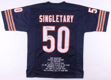 Mike Singletary Signed Career Highlight Stat Jersey Inscribed HOF 98 JSA COA