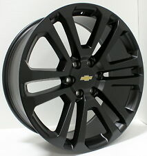 New 22 inch Chevy Black Split Spoke Wheels Rims Silverado Tahoe Avalanche