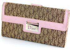 100% Authentic Christian Dior Trotter Pattern Ladies Long Wallet Italy 02LU0036