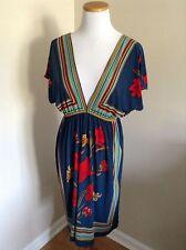 Forever Twenty One Colorful Vintage 60's Look Dress Size MEDIUM