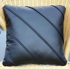 LEATHER CUSHION 40x40 Real Backrest Pad Case relaxation Wellness Pillow