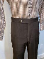 Vtg 60s 70s Mens 34 32 SANSABELT Pants Brown Polyester Disco Leisure Suit Groovy
