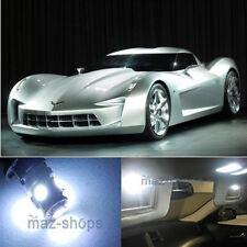 11Pcs Xenon White LED Interior Light Package For 2005 - 2013 Chevy Corvette C6