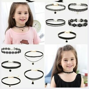 Adult Children Choker Charm Necklace Lace Clavicle Jewelry Girls Neck Decorative