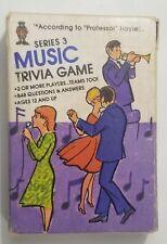 Hoyle Pocket Trivia Cards 1984 Television Series 3 Music No. 7032