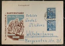 1952 Bad Sulza East Germany Ddr First Day Cover Fdc Int Long Distance Cycle