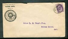 1899 Brantford CDS Cancel Numeral Ideal Windmill Advertising Cover Beamsville BS