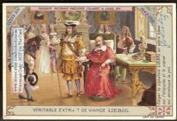 Mourant Presente Colbert A Louis XIV French History c1910 Trade Ad  Card