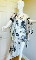 ESKANDAR ASSYMETRICAL 100% SILK TOP KAFTAN NEW WITH NEIMAN MARCUS TAG SIZE OS