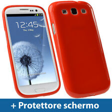 Rosso Custodia TPU Gel per Samsung Galaxy S3 III i9300 Android Case Cover Rigida