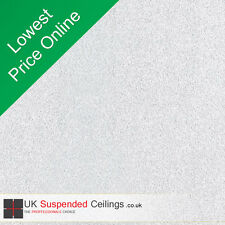Sand Storm Ultimate White Ceiling Tiles For Office School etc Like Armstron Dune