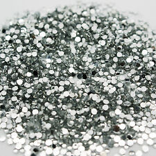 1650 - 1.5mm Clear Rhinestones Round Acrylic Nail Art Craft Gems Diamond - NEW